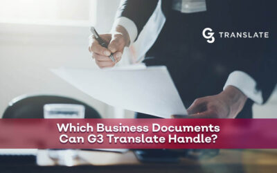 Which Business Documents Can G3 Translate Handle?